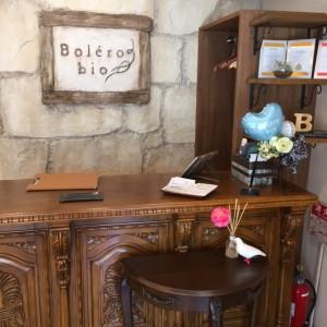 国立の美容室ボレロビオにあらたに受付台が設置されました